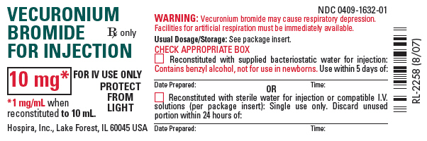 PRINCIPAL DISPLAY PANEL - 10 mg Vial Label